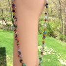 Boho/Bohemian Chic Dangling Multi Color Beaded Choker Necklace!