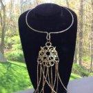 Vintage Tribal Boho Statement Brass Choker,Tribal Spike African Ethnic Necklace,Coachella Jewelry!
