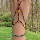 Beaded Barefoot Sun Sandal Toe Anklet - Unique & sexy for your beach feet!