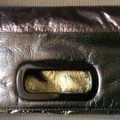 Sondra Roberts Tri-Color Leather Metallic Fold-Over Clutch Style Purse - UNIQUE!