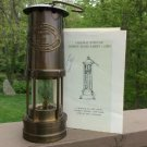 E. Thomas & Williams Cambrian Miner's Safety Lamp from Brookstone - SOLID BRASS - MADE IN WALES, UK!