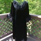 Vintage Lane Bryant Velvet Dress/Robe with Marabou Trim - Size 2X/3X - 'Hollywood Regency'!