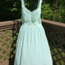 Vintage Gotham Ruffle Trimmed Mint Green Negligee - Size 42 - so soft and pretty!