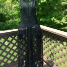 LeLace by Connie Crebbin Black Lace Full-Length Apron - OSFM - VERY UNIQUE - MADE IN USA!