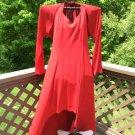 IGIGI Authentic Plus Size Designer Halter Top RED MAXI Cocktail Dress with Shrug, 1X - SEXY!