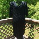 Vintage Nightworks Black Fringe 'Shimmy' Dress - Size Large - Great Gatsby/Flapper Style!