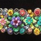 Multi Color Rhinestone Stretch Bracelet - BEAUTIFUL!