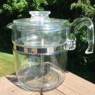 Vintage Pyrex 9 Cup Stove Top Flameware Percolator Coffee Pot Model 7759-B - COMPLETE - SUPER CLEAN!