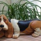 Vintage Basset Hound Hobbyist Ceramic Dog Figurine - Expertly Hand-Painted!