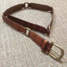 Fossil Accessories Leather Size M Croc-stamped Link Belt #BT7029 HON - Brown/Brass!