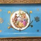 Limoges Fragonard Art Fine Porcelain Rectangular Trinket Tray Dish - Made in France!