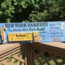 "'NEW YORK YANKEES The House That Ruth Built' Original Artwork 3D Wood Plaque - 30"" x 9""!"