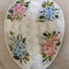 Hand-Painted Ceramic Cross Religious Theme Egg Veggie Platter Tray Dish for Easter - Made in Italy!
