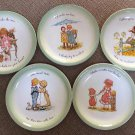"Vintage 1972 Holly Hobbie 10"" Collector's Edition Plates - Set of 5!"