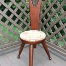 Vintage Ma-Leck Woodcraft Three-Legged Spinning Chair Birthing Style Stool - Made in USA!