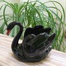 Vintage Goebel Black Swan Dish W. Germany!