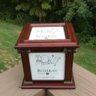Bombay Company Photo Cube Storage Box - Mahogany - from 2002!