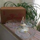 Vintage Princess House Fantasia Crystal Serving Set Lazy Susan #323!