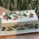 Portmeirion Botanic Garden ¼ Pound Covered Butter Dish 'Rhododendron (Lepidotum) and Forgetmenot'!