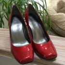 Me Too 'Pixy' Red Patent Leather Pumps - Size 9 - Square Toe - Shiny!