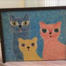 Cool Cats Sliding Tile Top Wooden Box - 10 x 8!