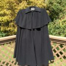 Vintage Zandra Rhodes for Green & Makofsky Sleeveless Wool Cloak Cape - THE ULTIMATE CAPE!
