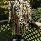 Sequined Leopard Swing coat Jacket by GUNIT PLUS SIZE 3X - ONE OF A KIND - NWT!