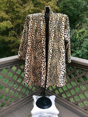 Caché Faux Leopard Swing Coat Jacket PLUS SIZE - OSFM!