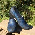 Alegria Emma EMM-741X Shoes Mules - Black & Blue Iridescent - Size 38!