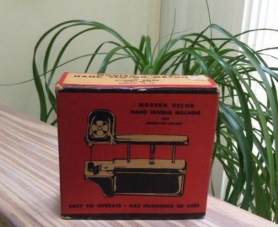 Vintage Hand Sewing Machine, 1940s Modern Decor made Japan in Original box!