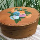 """Frye's Measure Mill SHAKER BOX Old Time Woodenware Hand-Painted 7½ x 6 x 3¼""""!"""