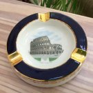 Vintage Souvenir Il Colosseo (The Colosseum) Roma Italy Ashtray with Gold Gilt!