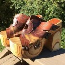 Vintage Soho New York Wooden Huge Platform Sandals Shoes - Size 6-7 - AWESOME!
