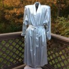 Elaine Jessley Silver Lame Metallic Long Belted Wrap Maxi Coat Outerwear Size 22 - WOW!