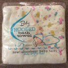 Vintage Rosebud Baby Hooded Bath Towel - 100% Cotton - 30 x 36 - Made in the USA!