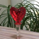 Mikasa Austrian Crystal Venus Red Heart Bottle Stopper - Perfect for Valentine's Day!