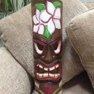Hand Crafted Wooden Tiki Totem Wall Mask 20 Inch Tall Art Wall Decor!