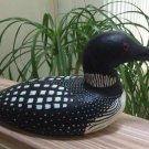 """Vintage Wood Hand Carved Life-size Loon Decoy by J. Kirchman from 1993 - 15""""!"""