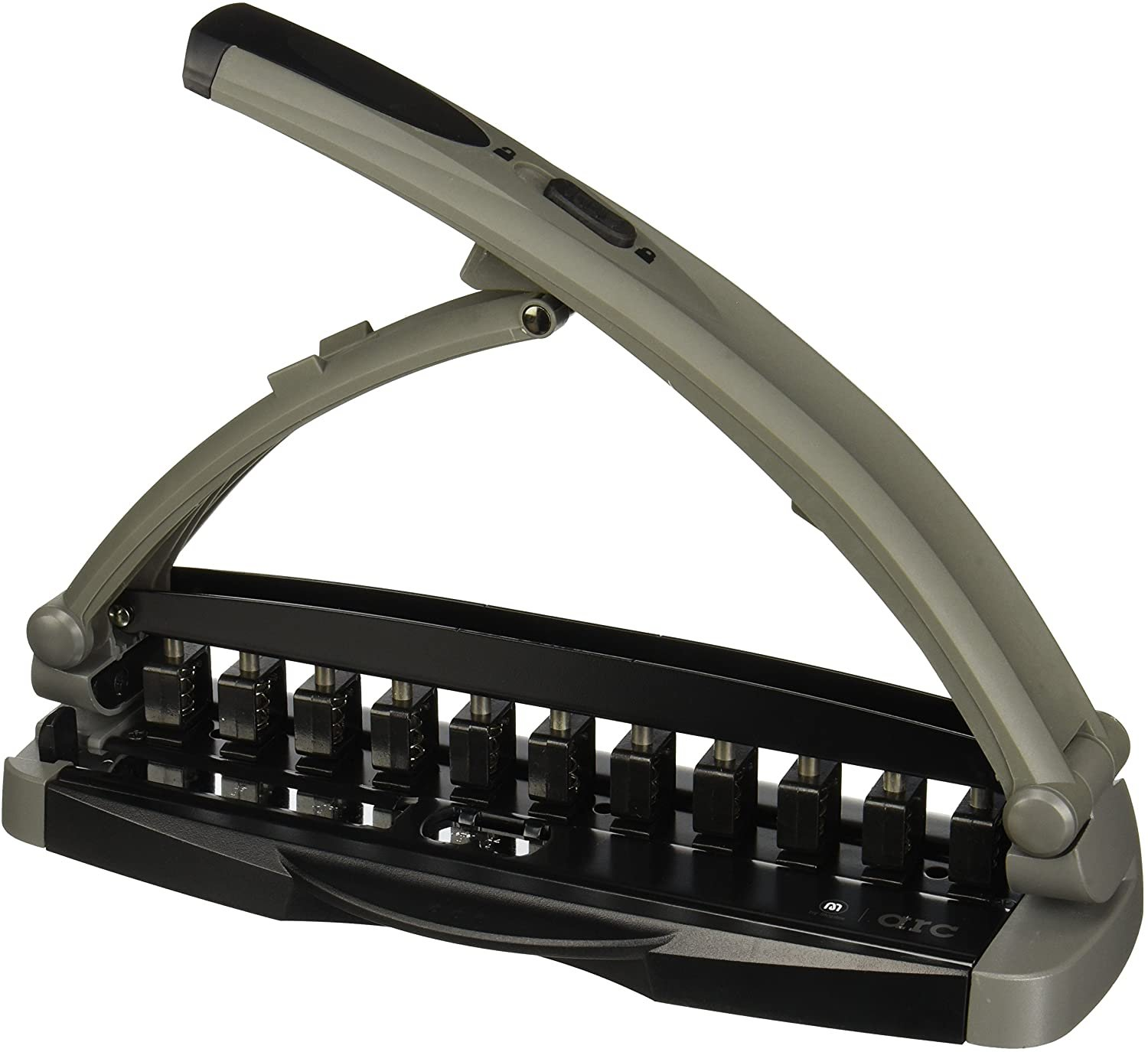 Staples Arc System Adjustable Punch, 8 Sheet Capacity, Gray (40836)!