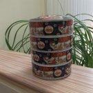 Vintage 5-piece Otagiri OMC Japan Stacking Porcelain Trinket Box, 4 Compartments, Imari Style!