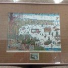 1985 Bruce Johnson 'Basic Duck Hunting Techniques' Humorous Print 21 x 19 Signed!