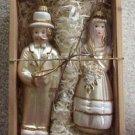 Lauscha Glass Creation Christmas Tree Bride & Groom Ornaments -Thuringer Woods & Lillian Vernon!