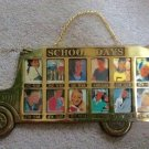 Vintage 1991 Solid Brass 'School Days' Bus Picture Hanging Frame 1st-12th Grade Year!