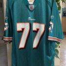 Reebok NFL Miami Dolphins #77 JAKE LONG Football Jersey - Men's Size XL!