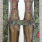 "Vintage Robert Alan Candle Company 10"" Sculptured Reindeer Taper Candles!"