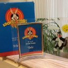 Looney Tunes 'Sylvester the Cat' Curved 5 x 7 Picture Frame from 1997 by Dale Tiffany, Inc.!