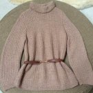 Vintage GUCCI Alpaca Turtleneck Sweater w GUCCI Leather Belt - Sz 44 (M) - Made in Italy - GORGEOUS!