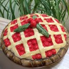 Ceramic Cherry Covered Pie Keeper Dish by Over and Back, Inc. - Made in Portugal!