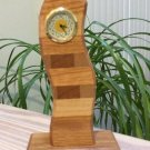Contemporary Minimalist Design Stacked Wood Desk Clock - Multi Wood Tones!