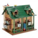 Plow & Hearth Wooden Cabin Advent Calendar - Woodland creatures & birds behind 24 doors & windows!